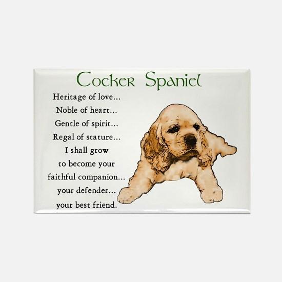 Cocker Spaniel Rectangle Magnet (10 pack)