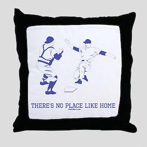 Home Funny Baseball Throw Pillow