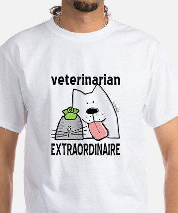 Veterinarian Extraordinaire White T-Shirt
