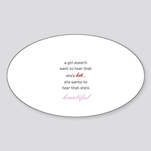 Beautiful Sticker (Oval)