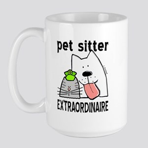 Pet Sitter Extraordinaire Large Mug