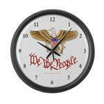 We the People Large Wall Clock