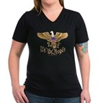 We the People Women's V-Neck Dark T-Shirt