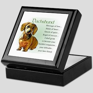 Dachshund Puppy Keepsake Box