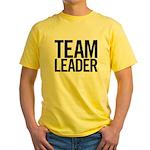 Team Leader (black) Yellow T-Shirt
