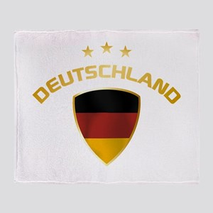 Soccer Crest DEUTSCHLAND gold Throw Blanket