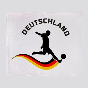 Soccer DEUTSCHLAND Player Throw Blanket