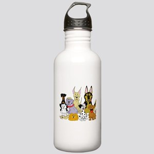 Cartoon Dog Pack Stainless Water Bottle 1.0L