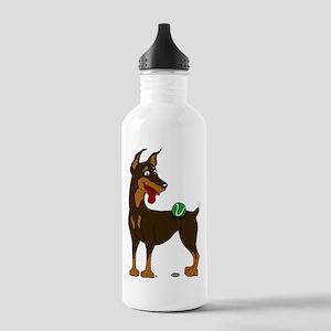 Red Doberman Pinscher Stainless Water Bottle 1.0L