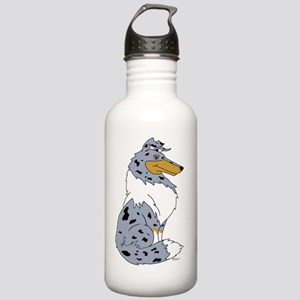 Blue Merle Rough Collie Stainless Water Bottle 1.0