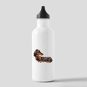 Chocolate Dapple Dachshund Stainless Water Bottle
