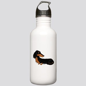 Black Tan Dachshund Stainless Water Bottle 1.0L