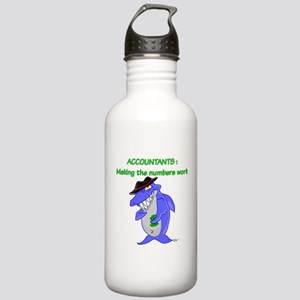 Shark Accountant Stainless Water Bottle 1.0L