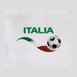 Soccer ITALIA Throw Blanket