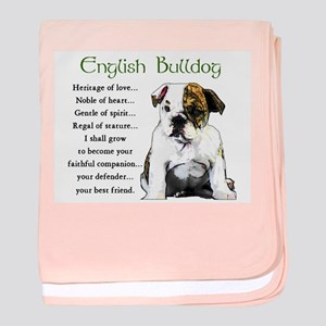 English Bulldog baby blanket