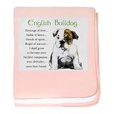 English bulldog Blanket