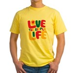 Love The Simple Life Yellow T-Shirt