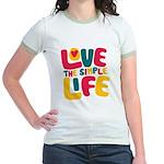 Love The Simple Life Jr. Ringer T-Shirt