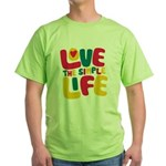 Love The Simple Life Green T-Shirt