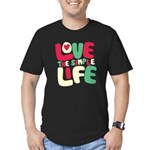 Love The Simple Life Men's Fitted T-Shirt (dark)