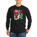 Love The Simple Life Long Sleeve Dark T-Shirt