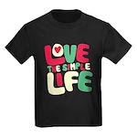 Love The Simple Life Kids Dark T-Shirt