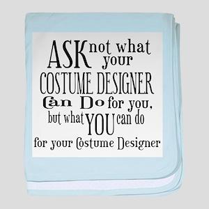 Ask Not Costumer baby blanket