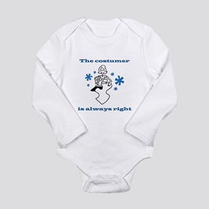 Costumer Sewing Long Sleeve Infant Bodysuit