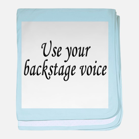Backstage Voice baby blanket
