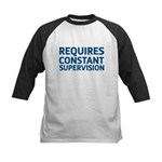 Requires Supervision Kids Baseball Jersey