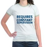 Requires Supervision Jr. Ringer T-Shirt