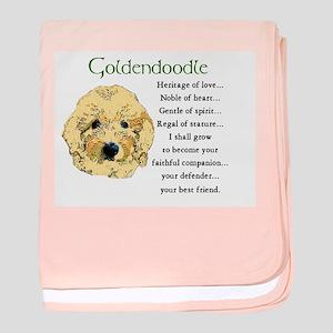 Goldendoodle baby blanket