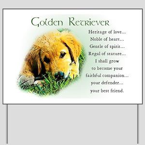 Golden Retriever Yard Sign