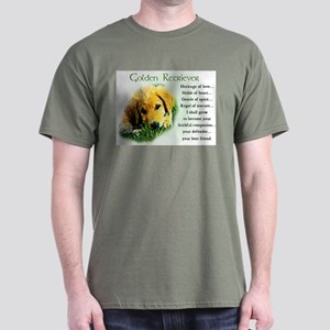 Golden Retriever Dark T-Shirt