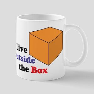I Live Outside the Box Mug
