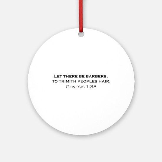 Barbers / Genesis Ornament (Round)
