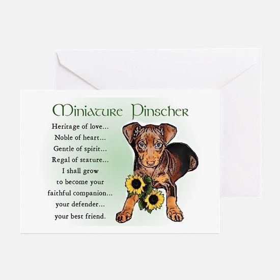 Miniature Pinscher Greeting Cards (Pk of 10)