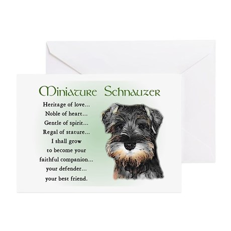 Miniature Schnauzer Puppy Greeting Cards (Package