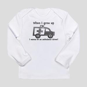 Grow Up Ambulance Long Sleeve Infant T-Shirt