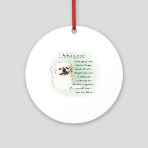 Pekingese Ornament (Round)