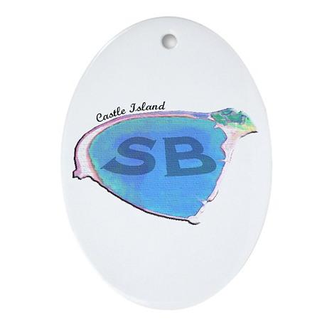 Castle Island SB Oval Ornament