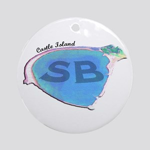 Castle Island SB Ornament (Round)