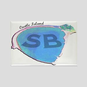 Castle Island SB Rectangle Magnet