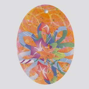 Colorful Snowflake Ornament (Oval)