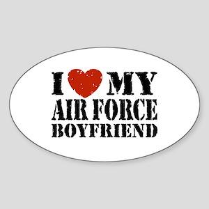 Air Force Boyfriend Sticker (Oval)