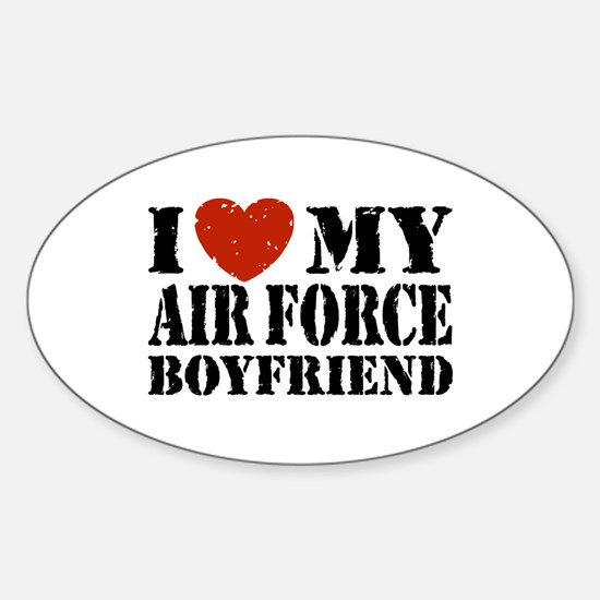 Air Force Boyfriend Sticker (Oval)