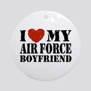 Air Force Boyfriend Ornament (Round)