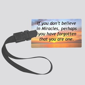 GODS MIRACLES Large Luggage Tag