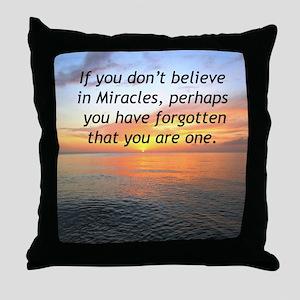GODS MIRACLES Throw Pillow