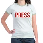 Press (red) Jr. Ringer T-Shirt
